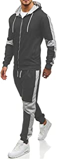 Morbuy Mens Tracksuits Set,Long Sleeve Casual Sweatshirt Top Pants Sets Sports Suit Hoodie Jacket Bottoms Set with Pockets...