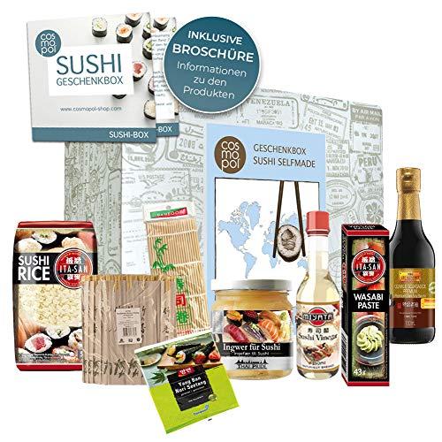 Set regalo asiatico 'Sushi Box' | grande regalo per gli intenditori di sushi | Prepara il sushi tu stesso Regalo di compleanno Regalo di Natale Self Made Sushi