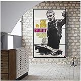 A&D Polizei Bulitt Movie Poster Leinwand Malerei Wandkunst