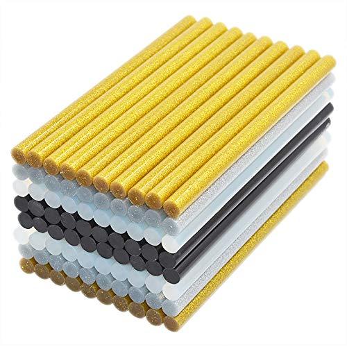 FMN-DJU 20 stuks 11 mm x 200 mm lijm voor lijmpistool, Craft Phone Case reparatie accessoires lijm 11mm stick Clear Black 4 kleuren