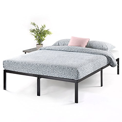 "Best Price Mattress Queen Bed Frame - 14"" Metal Platform Bed Frame w/Heavy Duty Steel Slat Mattress Foundation (No Box Spring Needed), Queen Size"