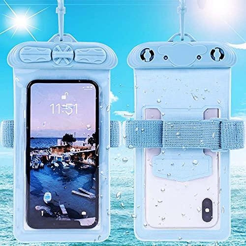 Vaxson Hülle, kompatibel mit RugGear RG650, Blau wasserdichte Tasche Handyhülle Waterproof Pouch Hülle [Nicht Bildschirmschutzfolie Schutzfolie ]