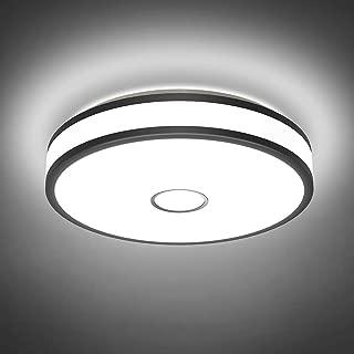 Onforu 18W LED Lámpara de Techo, IP65 Impermeable CRI 90+ LED Plafón 1600LM para Salón Cocina Dormitorio Baño Pasillo, Igual al 180W Luz Interior Techo Habitacion, 5000K Blanco Frío Redonda Moderna