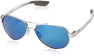 Costa Loreto Sunglasses Palladium w/White Temples/Blue Mirror 580P & Carekit