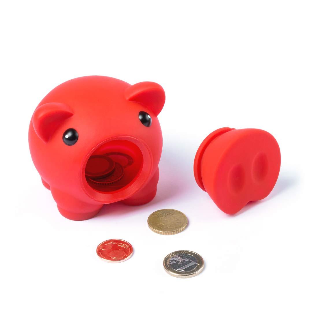 Lote DE 10 HUCHAS-Hucha cerdo con Acabado DE Goma-Colores Variados ni/ños y ni/ñas Se Pueden Elegir los Colores de los cerditos-Hucha cerdito de goma segura para los ni/ños-Regalo infantiles perfecto