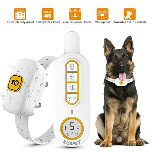 KOSPET Dog Training Collar - Rechargeable Dog Shock Collar with Remote,3 Training Modes, Beep, Vibration and Shock,Up to 1644Ft/548 Yard Remote Range,100% Waterproof for Small Medium Large Dogs