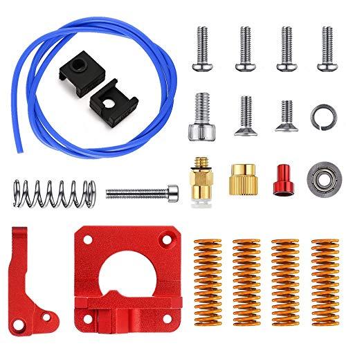 SFFSM MK8 Extruder Feeder Drive Kit 3D Printer Extruder Frame Kit Blue PEFT Tubing DieSpring for Ender 3 Pro Ender 5 CR-10 / CCR-10S (Farbe: 1 Kit, Größe: rechte Hand)