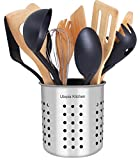 Utopia Kitchen Stainless Steel Cooking Utensil Holder 5 x 5.3 Inches...