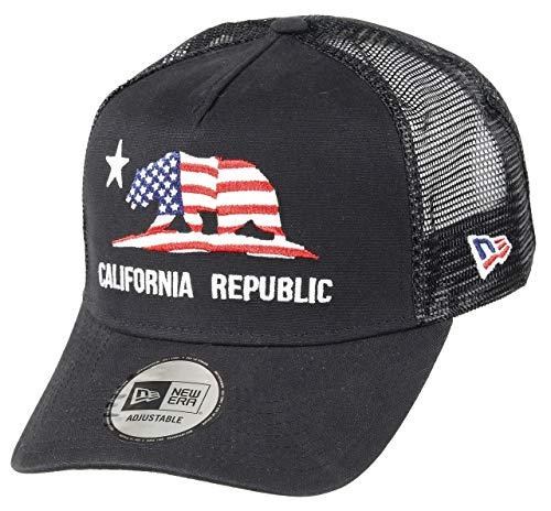 New Era California A Frame Adjustable Trucker Cap California Canvas Black - One-Size