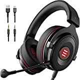 Image of EKSA E900 Pro Gaming Headset 7.1 3D Surround Sound USB Gaming Headphone with Noise Cancelling Mic, LED Light, Headphones for PS4/PS5/Xbox One/PC/Switch with Detachable Mic& 3.5