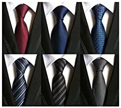 """Length: 57.1"""" (146CM) Width: 3.1"""" (8CM) at widest Item Type:Ties Waterproof, HIGH QUALITY Department Name:Adult QTY:6 X material:100%Silk"""