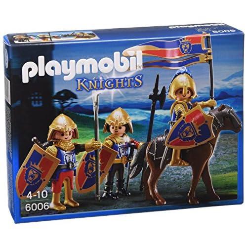 Playmobil- Knights Giocattolo Squadra Esplorativa dei Cavalieri del Leone, Multicolore, 6006