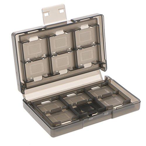 Estojo para Nintendo Switch com 24 compartimentos para cartão de jogo, caixa de armazenamento destacável, capa organizadora de plástico rígido