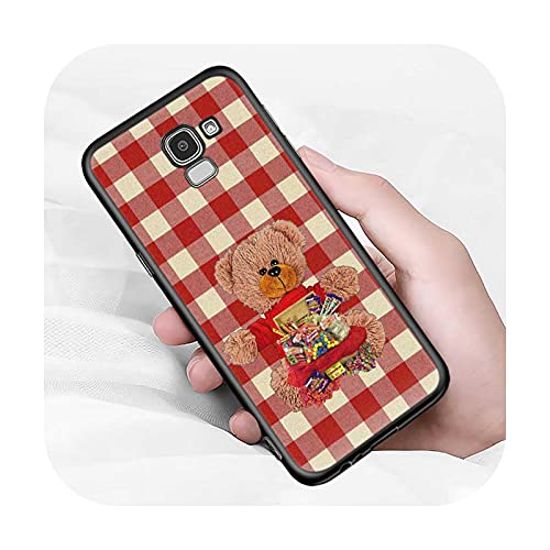 Lindo oso animal para Samsung Galaxy J2 J3 J4 Core J5 J6 J7 J8 Prime duo Plus 2018 2017 2016 suave negro cubierta del teléfono estilo 10-para J3 (J3 2016)