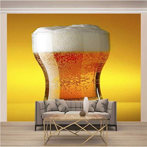 JKM Wallpaper 3D Selbstklebender Wandaufkleber Vliesstoff Wandgemälde Mehrfachgröße Modern Stilvoll Bier Weinglas Tapeten Wandbild Hintergrundbild Fototapete Wandbild, Motivtapeten, Vlies-Tapeten Abst