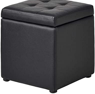 Ottoman Footstool,Foyer Leather Sofa Fitting Room Change Shoes Sofa Wear Shoes Stool Stool Stool Stool Large Space Storage St