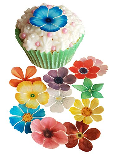 Essbares Reispapier/Oblatenpapier, vorgestanzt, für Cupcakes, Kuchen, Desserts,...