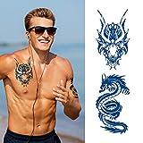 Aresvns Premium Temporary Tattoo for Men ,Semi Permanent Tattoos for Men Boys,Waterproof and Long Lasting 7-14 days Fake Tattoo Dragon Design