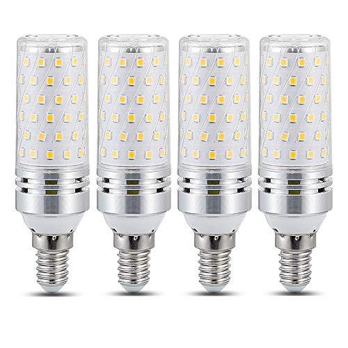 E14 LED Kaltweiß 6000K, 1600LM, Nicht Dimmbar, Ersetzt E14 100W 120W, 360-Grad-Licht, AC 220V, Stabform Cornlampe, Maiskolben LED E14 Kaltweiß für Kühlschrank/ Deckenlampe, 4er-Pack