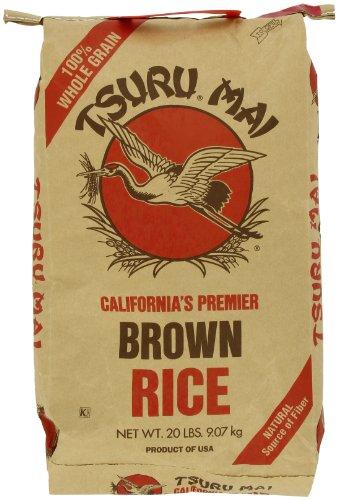 Tsuru Mai Rice Brown 20 Pound