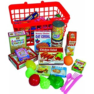 Peterkin UK Ltd Grocery Basket with Play Food:Hitspoker