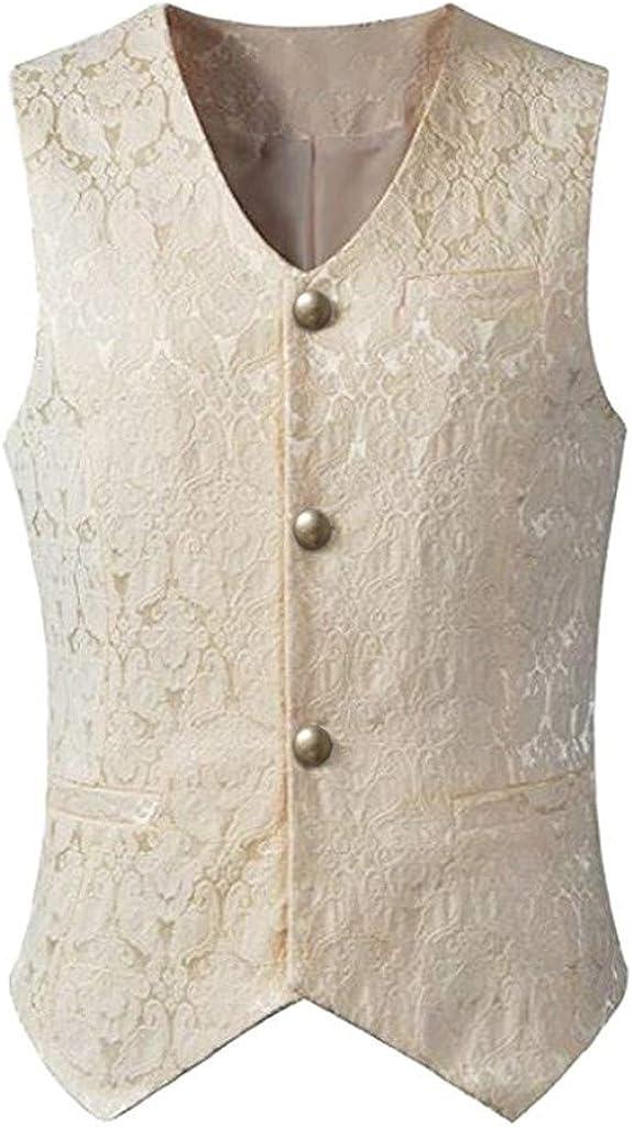 MODOQO Men's Waistcoat Sleeveless Slim Fit Casual Jacket Formal Wedding Party Suit Vests