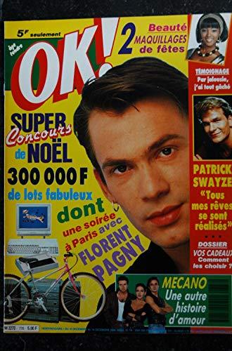 OK ! âge tendre 778 DECEMBRE 1990 FLORENT PAGNY PATRICK SWAYZE MECANO