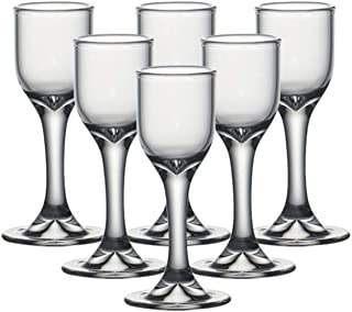 中国式ガラス酒器容器 白酒足付きの杯グラス 酒盃 10ml
