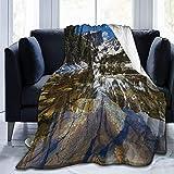 Jimbseo Manta de franela de forro polar azul y fondo de curva de Graphicriver Super suave y acogedora manta de cama mantas 40 x 50 pulgadas Model588#