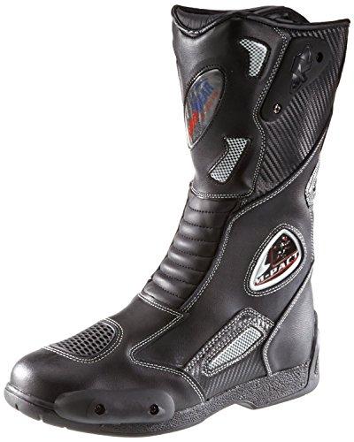Protectwear SB-03203-44 Motorradstiefel, Allroundstiefel, Sportstiefel aus Leder, Größe 44, Schwarz