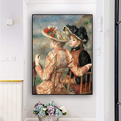 N / A Pierre Auguste Renoir (Pierre Auguste Renoir) Öl auf Leinwand Reproduktionsplakate und Drucke Wandbilder des nordischen Wohnzimmers 30x45CMNo Rahmen