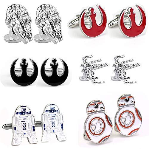 Geek & Glitter Star Wars - Juego de Gemelos (6 Pares, Incluye Caja de Regalo)