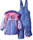 Wippette Girls Baby Girls & Toddler Insulated Snowsuit, Colorblock Purple, 12M