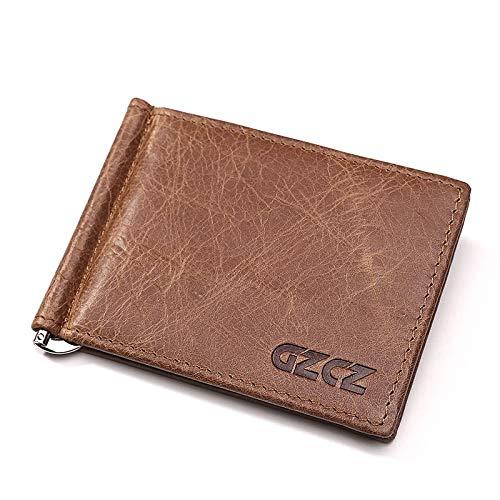 Geldbörse für Männer Echtes Leder-Mappen-Kurzschluss-Art modernen Mannes Mappe europäische und amerikanische Geschäfts US-Dollar Wallet Identification Wallet Prüfpositionserkennungsteil Kartenetuis