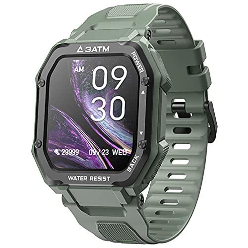 LOKMAT C16 Reloj Inteligente con Pantalla táctil HD de 1,70'para Hombre y Mujer, smartwatch Deportivo Resistente al Agua 30M con Bluetooth y Control del Ritmo cardíaco para Android e iOS (Green)