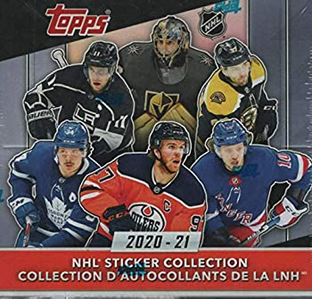 2020 2021 Topps EXCLUSIVE Hockey HUGE Factory Sealed 50 Pack Sticker Box with 250 Brand New MINT Stickers Try for Your Favorite Superstars and Rookies