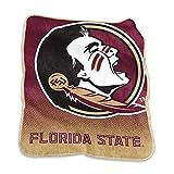 Logo Brands NCAA Florida State Seminoles Raschel Throw, One Size, Team Color