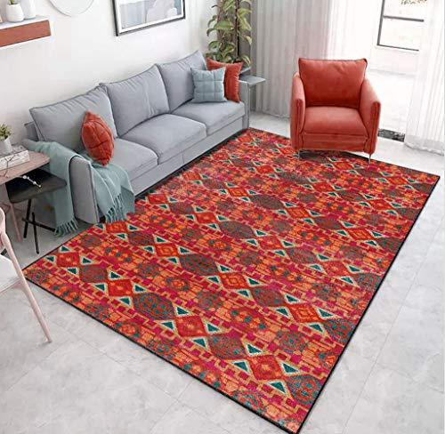 Tappeto Modello Persiano Stuoia strisciante Tradizionale Geometrica della stuoia di Yoga della Decorazione della casa della Camera da Letto del salone-60x110cm