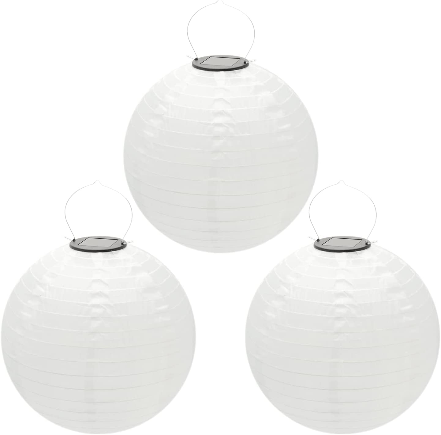 Beaneyun 5 ☆ very popular Solar Chinese Lantern Lights Super beauty product restock quality top! 3 Round 12 Pack inch