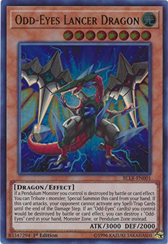 Yu-Gi-Oh! - Odd-Eyes Lancer Dragon - BLLR-EN001 - Ultra Rare - 1st Edition - Battles of Legend: Light's Revenge