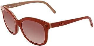 Chloe Peach Square Sunglasses CE669SA PEAC 56