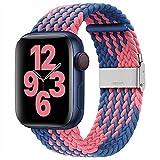 youmaofa Kompatibel mit Apple Watch Armband 38mm 40mm, Einstellbar Geflochten Dehnbare Elastisch...