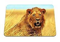 22cmx18cm マウスパッド (ライオン草の歯は風に直面します) パターンカスタムの マウスパッド
