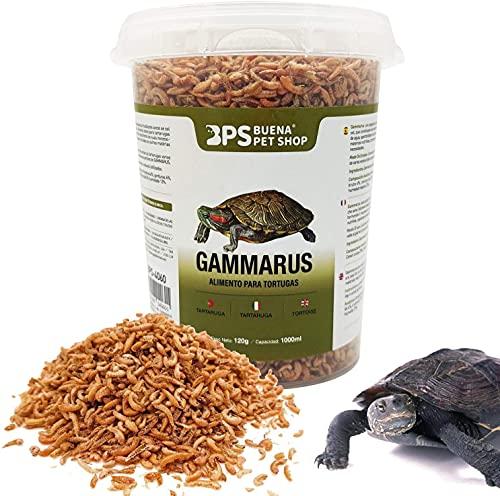 BPS Alimento Gammarus Comida Alimentación Natural para Tortugas Acuáticas Alimento Flotante Turtle Terrapin Food (500 ml)