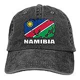 LLeaf Drapeau de la Namibie Football Rugby Hommes Femmes Casquettes de Baseball Réglables Denim Tissu Papa Chapeaux