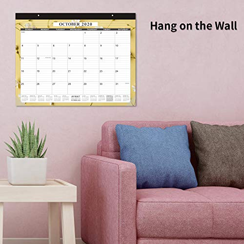 Large Desk Calendar 2020-22 x 17 Inches Desk Calendar 2020, Large Wall Calendars with Thick Paper, Smooth Writing, Large Space for Writing Notes, 14 Monthly Floral Designs, Office Calendars 2019-2020 Photo #4