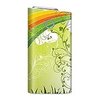 glo グロー グロウ 専用スキンシール 裏表2枚セット カバー ケース 保護 フィルム ステッカー デコ アクセサリー 電子たばこ タバコ 煙草 喫煙具 デザイン おしゃれ glow クール クローバー 緑 グリーン 005563