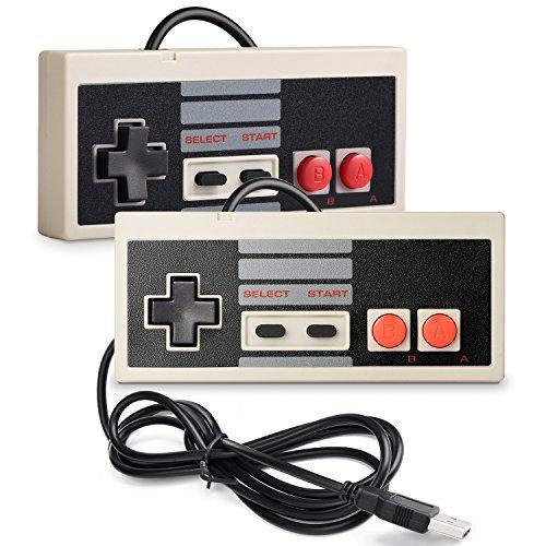 2 Pack miadore NES Controller USB Gamepad für PC/Mac,Classic USB NES Controller Joystick Joypad für Windows PC/MAC/Raspberry Pi3 / RetroPie NES Emulator