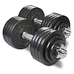 2 adjustable dumbbell weights