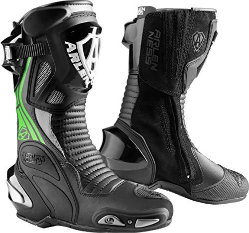 Arlen Ness Pro Shift 2 Stivali da moto Nero Bianco Verde 43